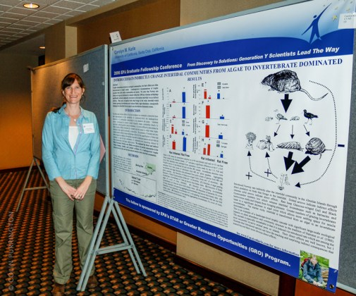 Conference poster with banner