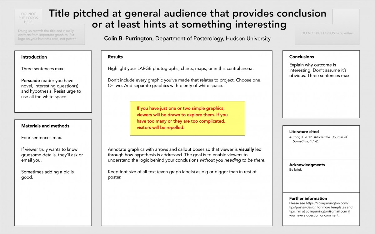 designing conference posters colin