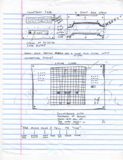 Original sketches for app interface.