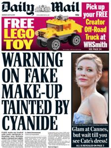 risks of counterfeit cosmetics