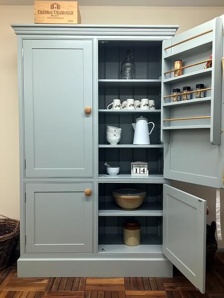 Freestanding Larder Cupboard With 4 Doors Kitchen Pantry