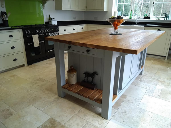 freestanding kitchen island cabinet factory outlet islands painted large with double slatted shelves