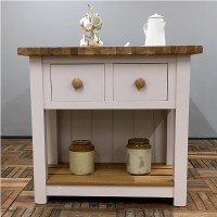 Freestanding Kitchen Island with Double Cupboards & Deep ...