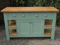 Freestanding Kitchen Island with Deep Drawers & Double ...