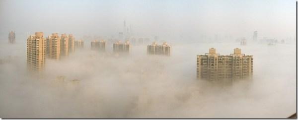 pollution dans une ville