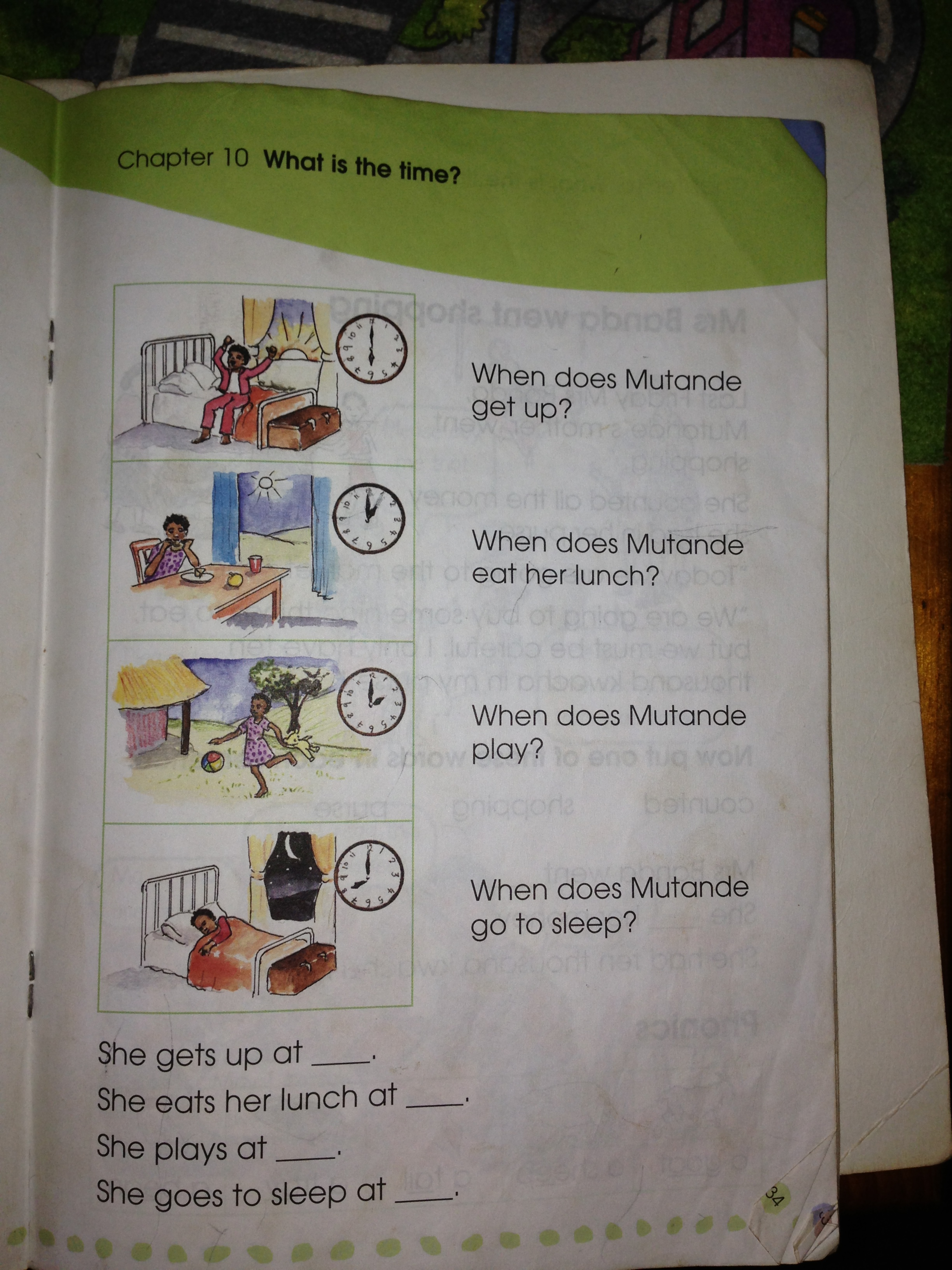 Worksheets Currently Used To Teach Time