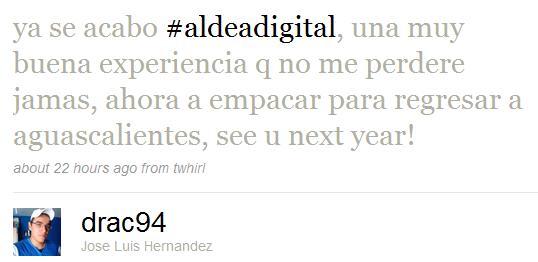 Tweet Aldea Digital