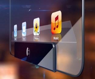 Concepto de iPad transparente