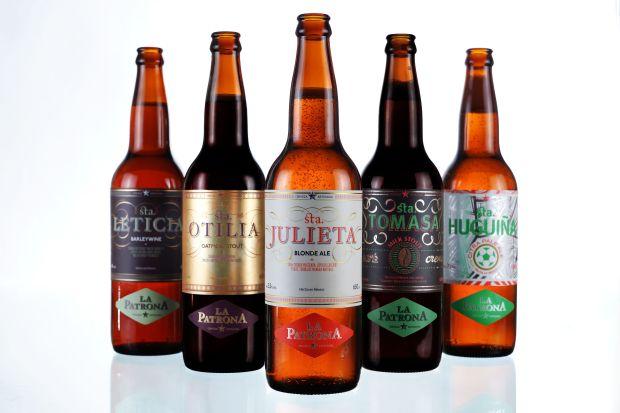 Linea de cervezas La Patrona 2014