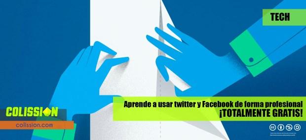Usa twitter y facebook de forma profesional