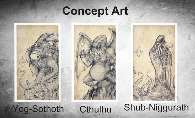 Cosmic Horror Chess Concept Art