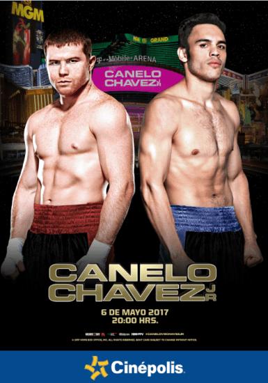 Cinépolis transmitirá en vivo la pelea entre Canelo y Julio César Chávez Jr.