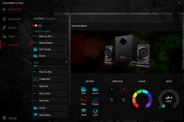Creative Sound BlasterX Kratos S5 Control de Luces