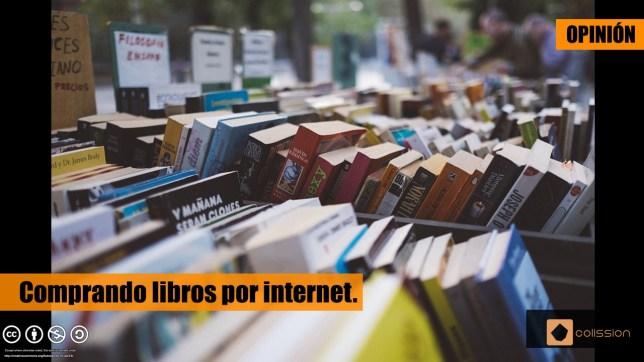 Comprando libros por internet.