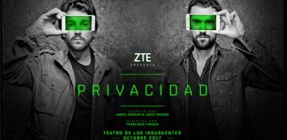 """Blade V8 Mini de ZTE se presentará de la mano de Diego Luna y Luis Gerardo Méndez en la obra """"Privacidad"""""""