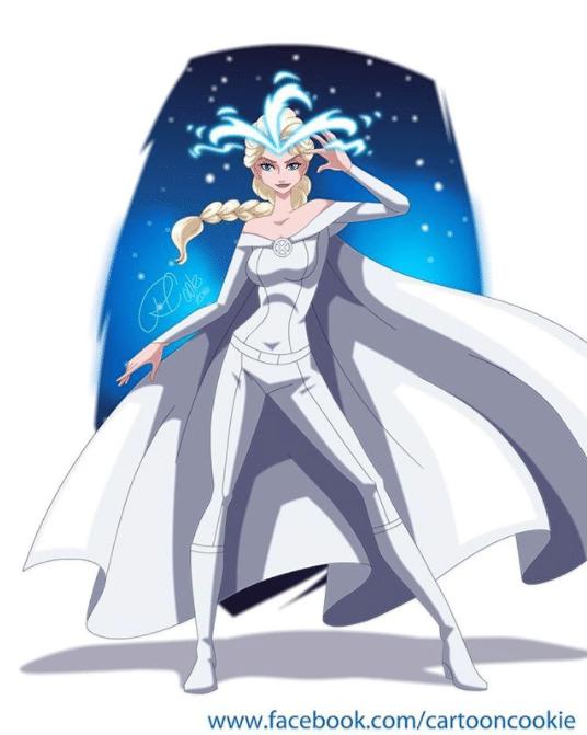 Elsa de Frozen como Emma Frost