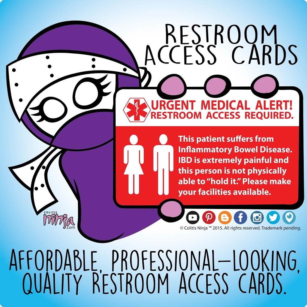 Restroom Access Cards Colitis Ninja
