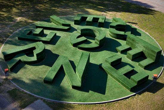 Evergreen Typographic Garden  CollabCubed