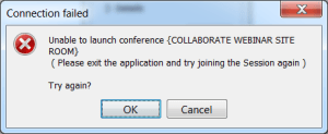 Unable to launch conference