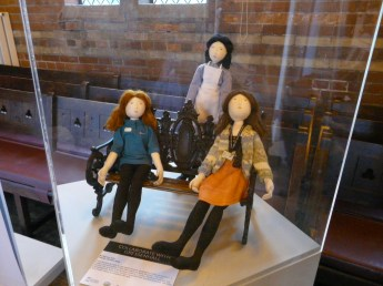 Hannah Jackson created modern version of the workhouse dolls - representing a curator, live interpretation officer and trainee.