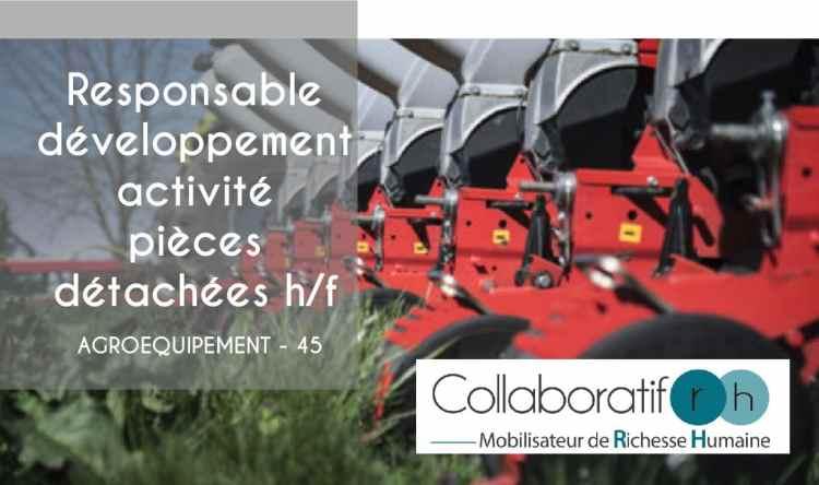 Responsable développement activité pièces de rechange h/f