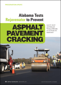 March/April 2018 edition of Asphalt Contractor magazine features ALDOT teaming up with NCAT and Midsouth Paving for December 2017 field research production & paving utilizing Delta S asphalt rejuvenator