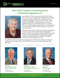 Mark Smith, marketing & sales consultant completes retires from Collaborative Aggregates LLC