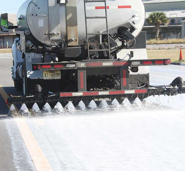 Collaborative Aggregate's Delta Mist being applied