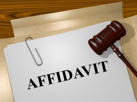 Affidavit can avoid court