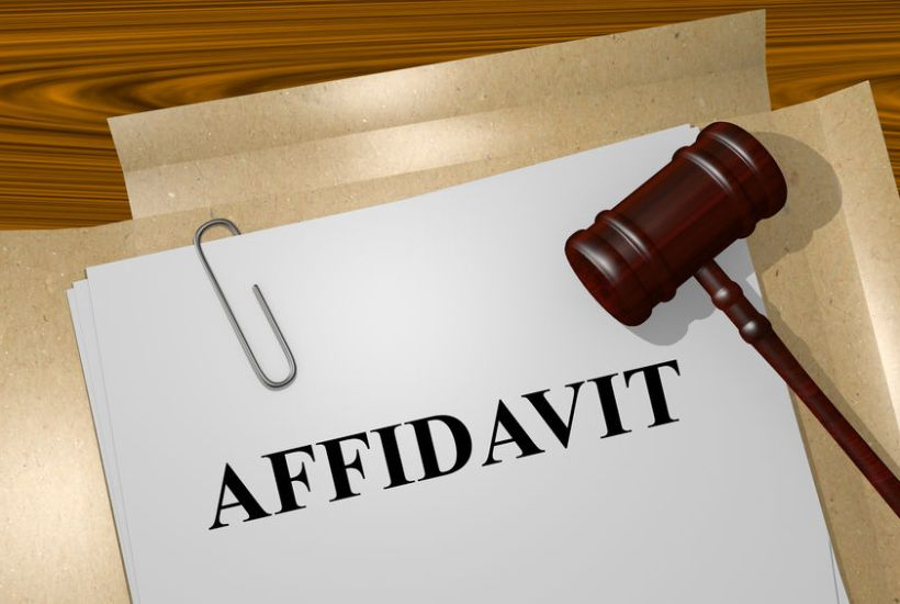 How Affidavits Can Keep Parties Out of Court