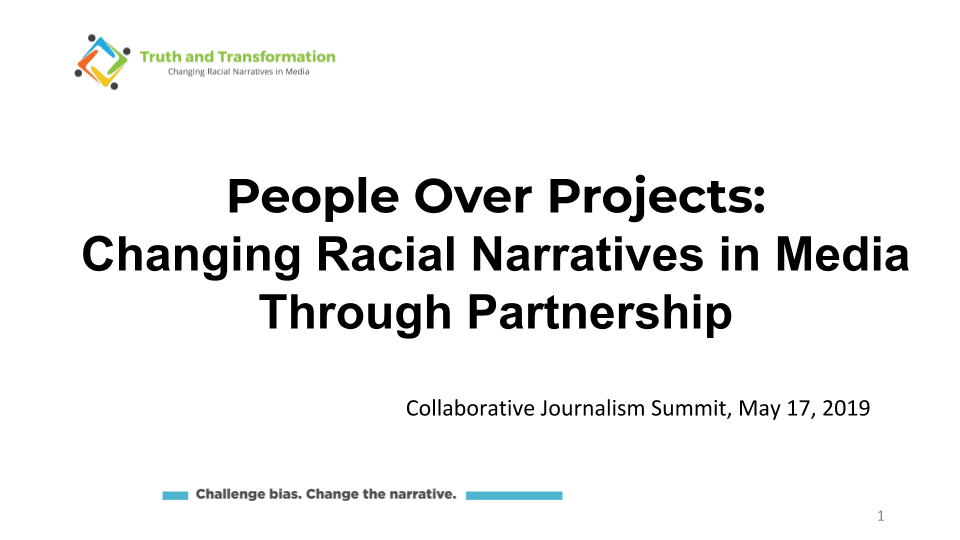 Slides from the 2019 Collaborative Journalism Summit in