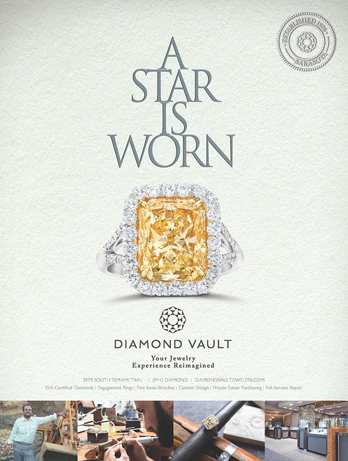 Diamond Vault / A Star is Worn print ad