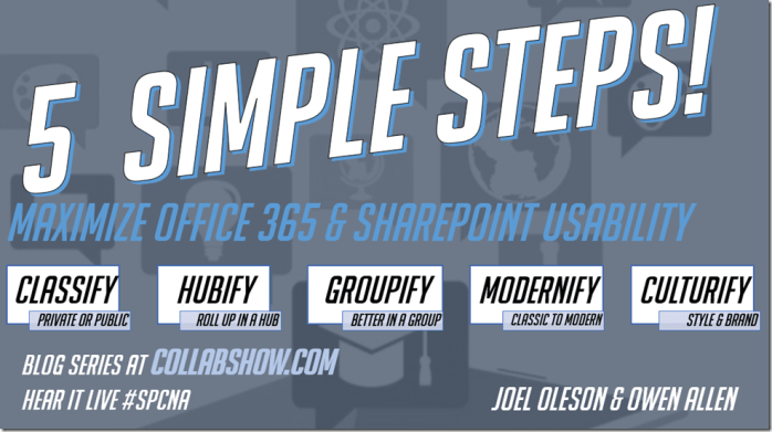 5 Simple Steps to Maximize Office 365 and SharePoint Usability