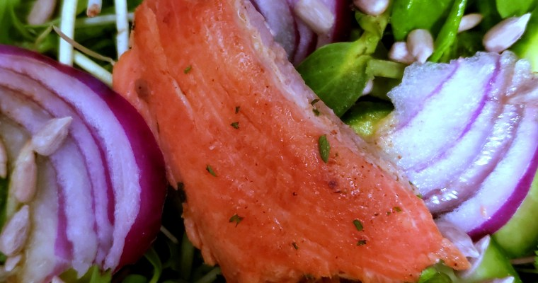 Salmon Salad with Spiked Vinaigrette