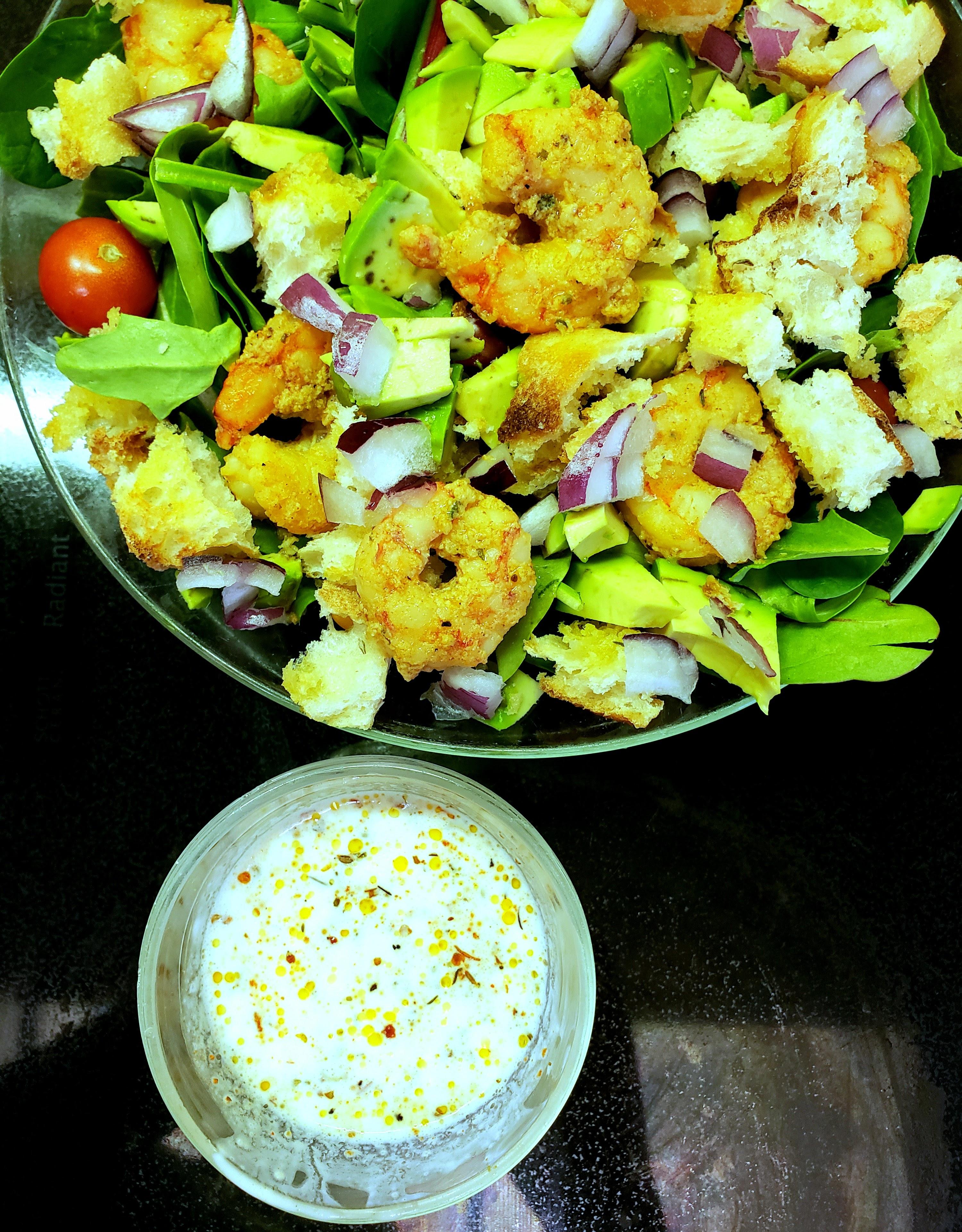 Shrimp Po' Boy Salad