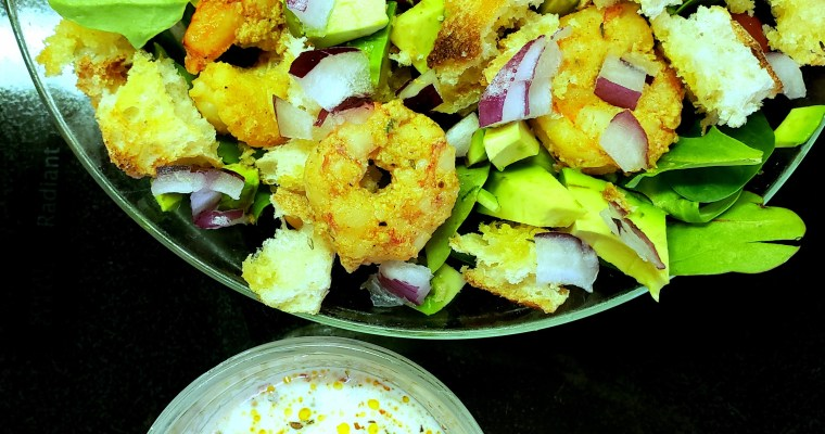 Shrimp Po' Boy Salad