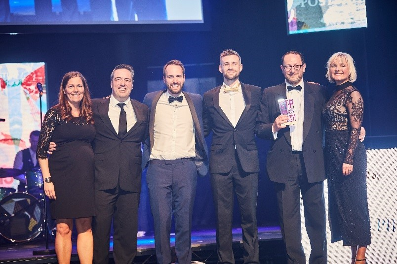Co-op Food picking up their awards