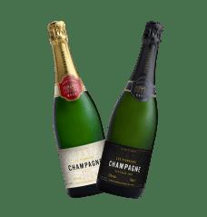 Co-op champagne bottles