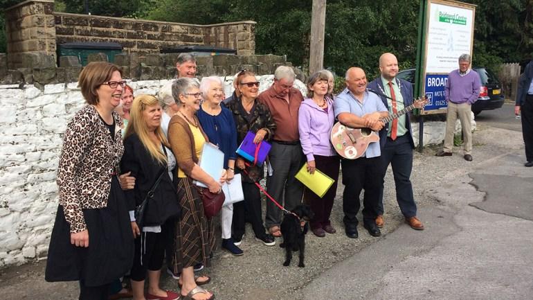 Local community at the Bridgend celebration opening