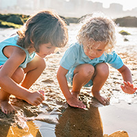 Image of children on a beach