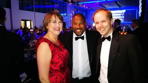 Jim Cooke, Head of Co-op Foundation with ex footballer Jon Barnes