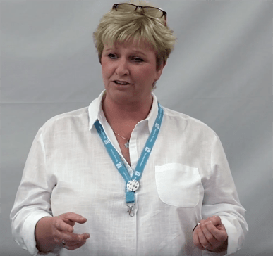 Jackie Savage speaking at a Co-op Local Forum