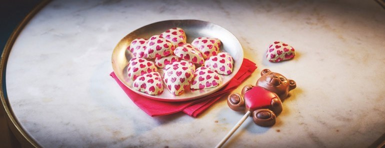 a picture of love heart chocolates