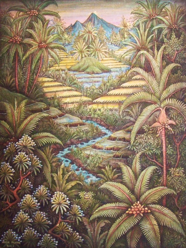 Exotic Balinese Landscapes Art Collections Travel