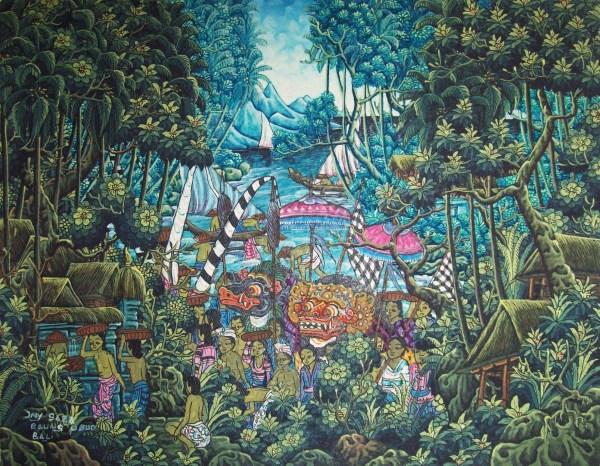 Balinese Landscape Paintings