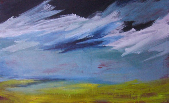 du blé landscape painting clouds buying canadian art janet bright