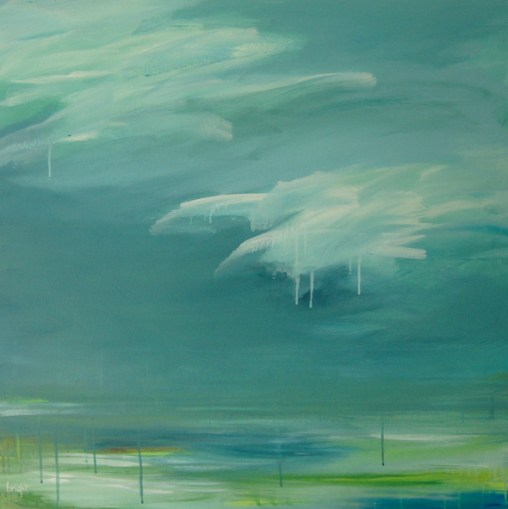 glacer landscape painting clouds buying canadian art janet bright