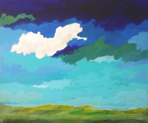 miles and miles landscape painting clouds buying canadian art janet bright