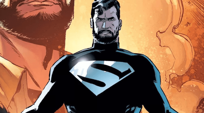 (C506) Concept Art de Justice League: Mortal, muestra traje negro de Superman