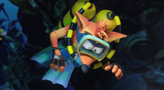 "NECA Crash Bandicoot 7"" Action Figure Deluxe Scuba Crash Announced"